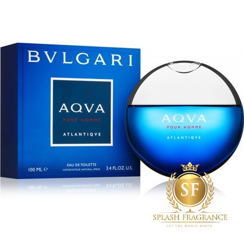 Aqua Pour Homme Atlantiqve By Bvlgari 100ml Edt Perfume Splash